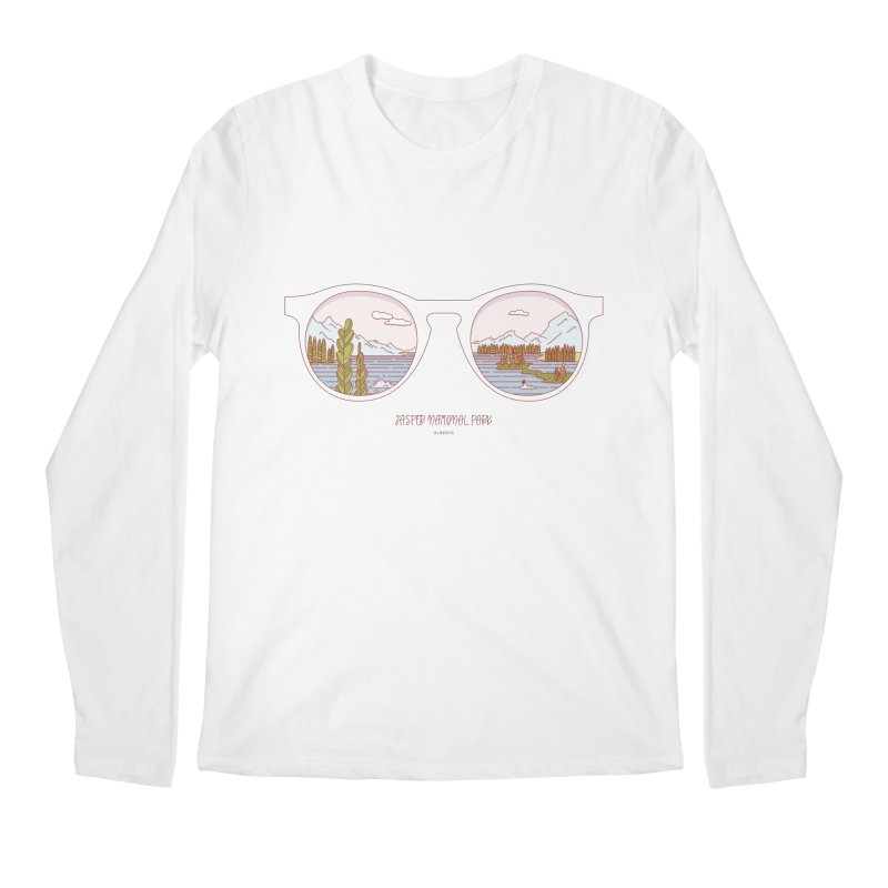 Canadian Sunnies | Jasper National Park Men's Regular Longsleeve T-Shirt by whitechaircreative's Artist Shop
