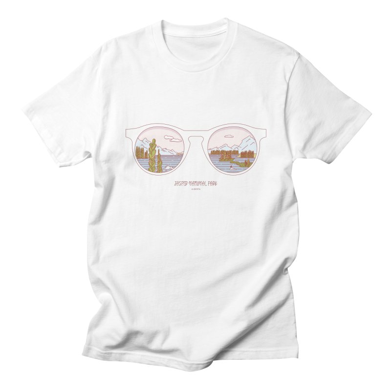 Canadian Sunnies | Jasper National Park Men's Regular T-Shirt by whitechaircreative's Artist Shop