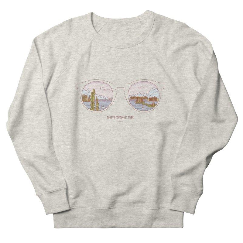 Canadian Sunnies | Jasper National Park Women's French Terry Sweatshirt by whitechaircreative's Artist Shop