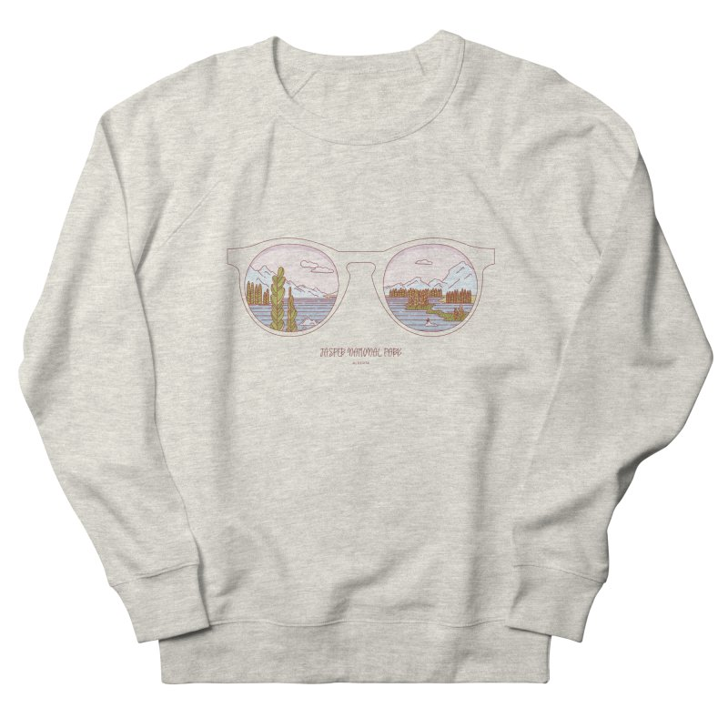 Canadian Sunnies | Jasper National Park Men's French Terry Sweatshirt by whitechaircreative's Artist Shop