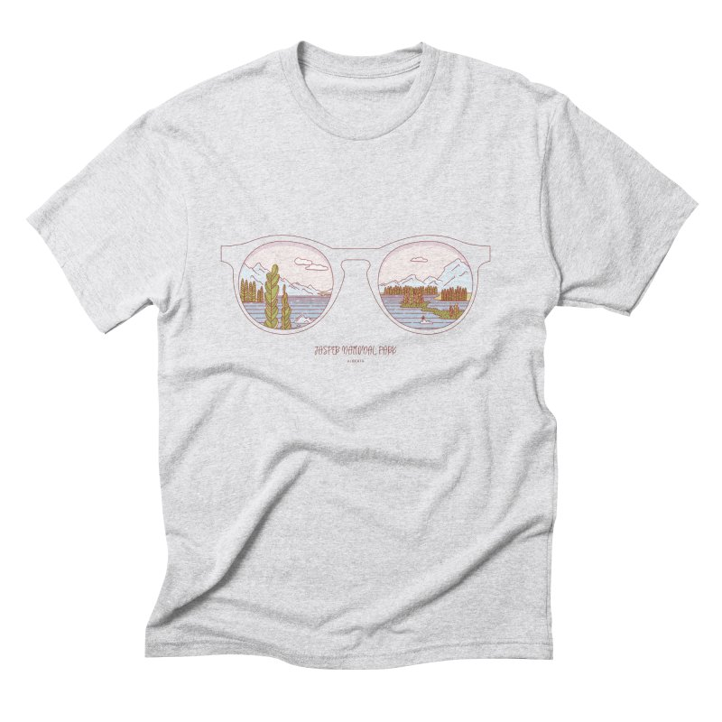 Canadian Sunnies | Jasper National Park Men's Triblend T-Shirt by whitechaircreative's Artist Shop