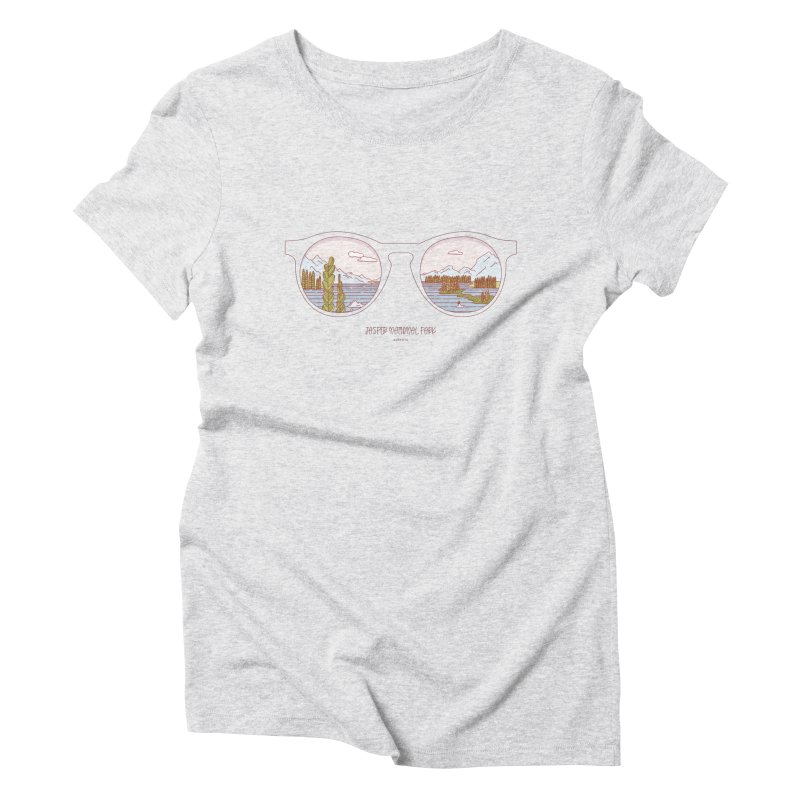 Canadian Sunnies | Jasper National Park Women's Triblend T-Shirt by whitechaircreative's Artist Shop
