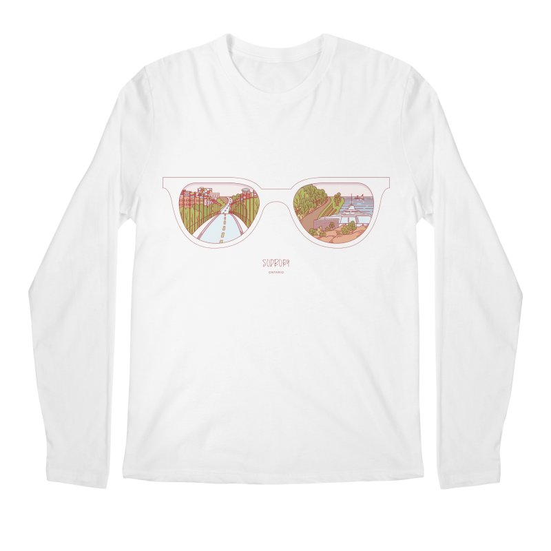 Canadian Sunnies | Sudbury Men's Longsleeve T-Shirt by whitechaircreative's Artist Shop