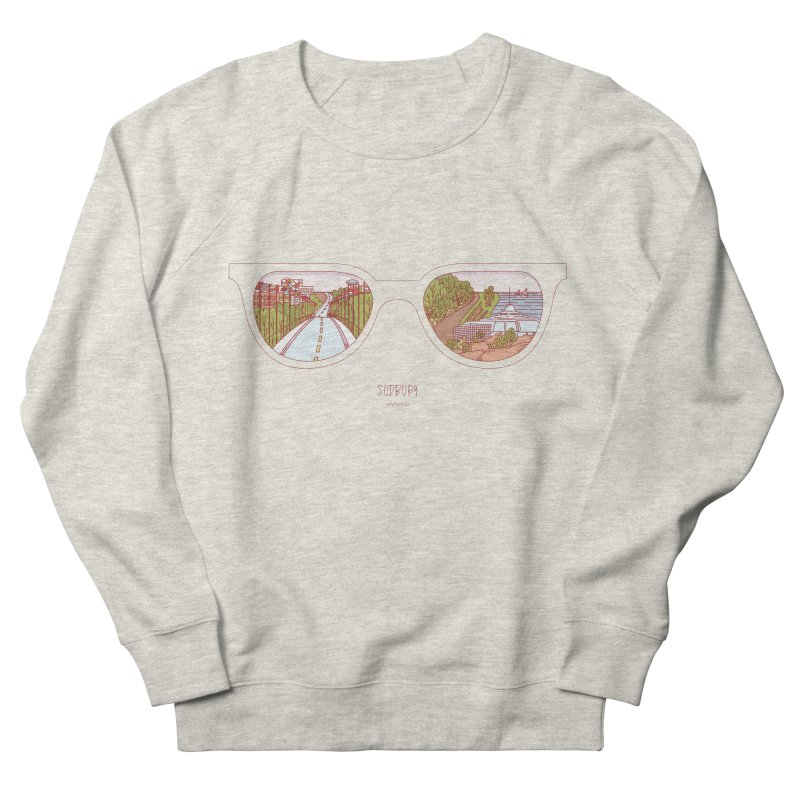 Canadian Sunnies | Sudbury Women's French Terry Sweatshirt by whitechaircreative's Artist Shop