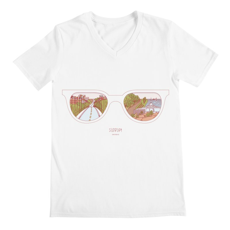 Canadian Sunnies | Sudbury Men's Regular V-Neck by whitechaircreative's Artist Shop