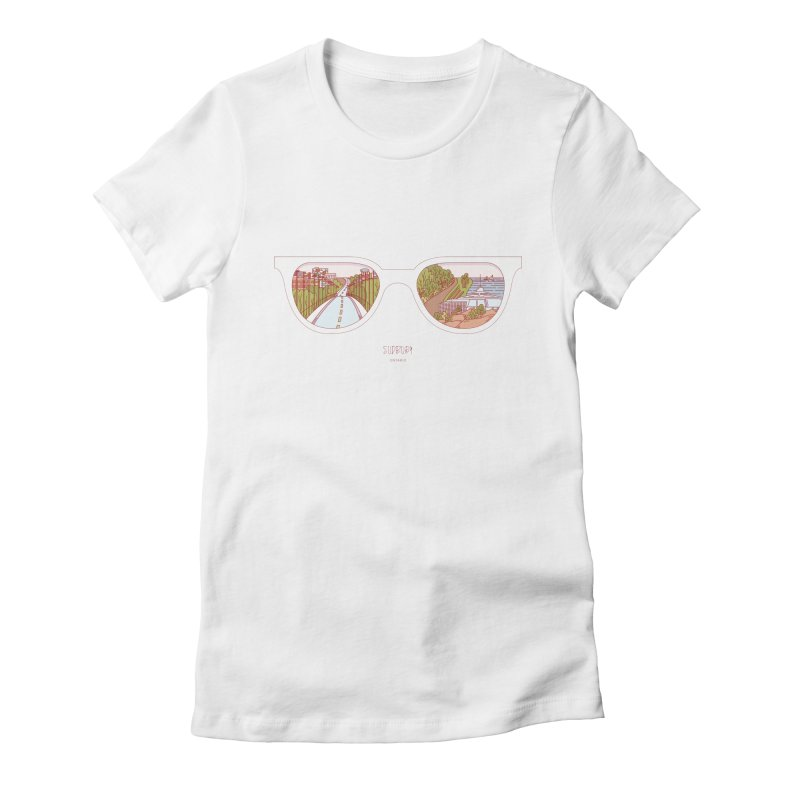 Canadian Sunnies | Sudbury Women's Fitted T-Shirt by whitechaircreative's Artist Shop