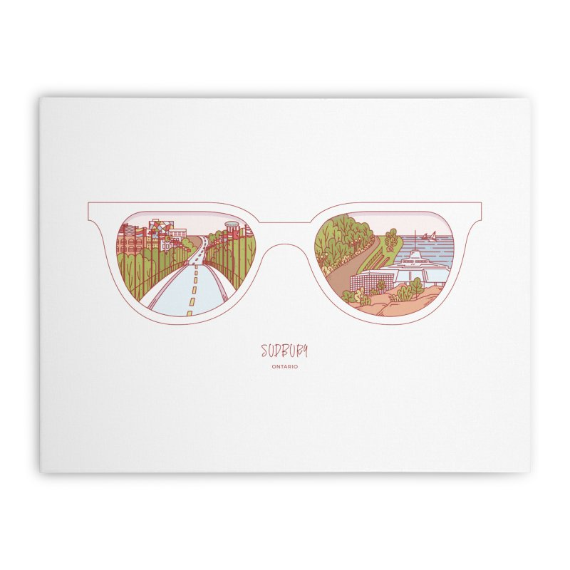 Canadian Sunnies | Sudbury Home Stretched Canvas by whitechaircreative's Artist Shop