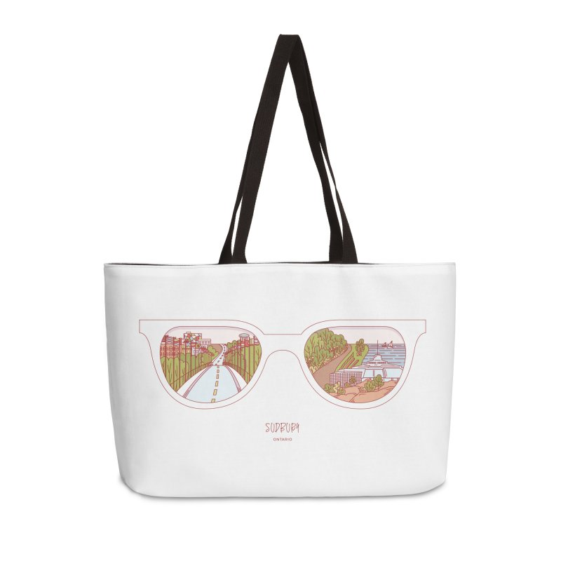 Canadian Sunnies | Sudbury Accessories Weekender Bag Bag by whitechaircreative's Artist Shop
