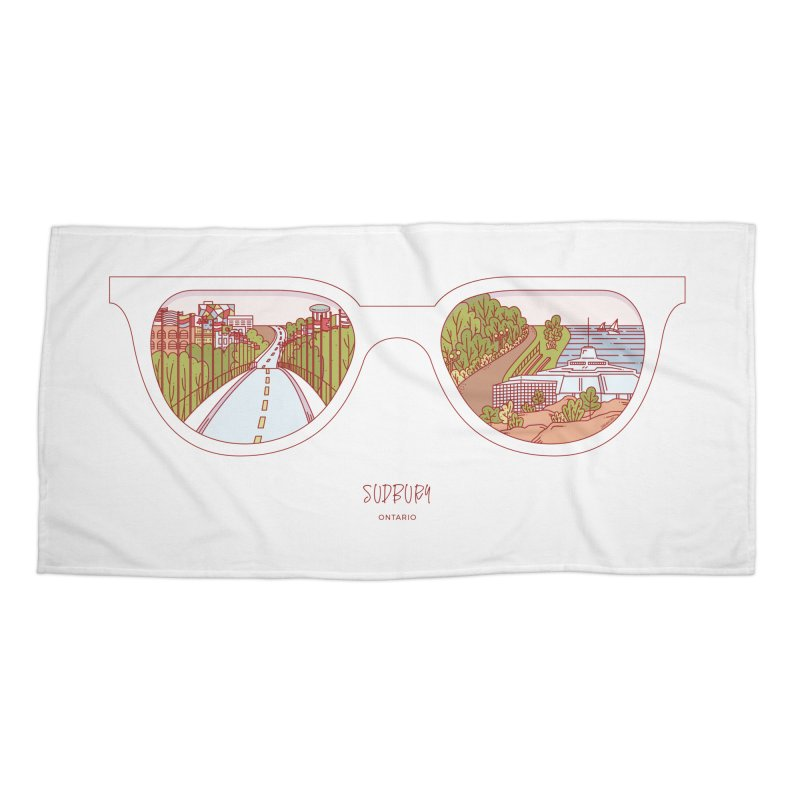 Canadian Sunnies | Sudbury Accessories Beach Towel by whitechaircreative's Artist Shop