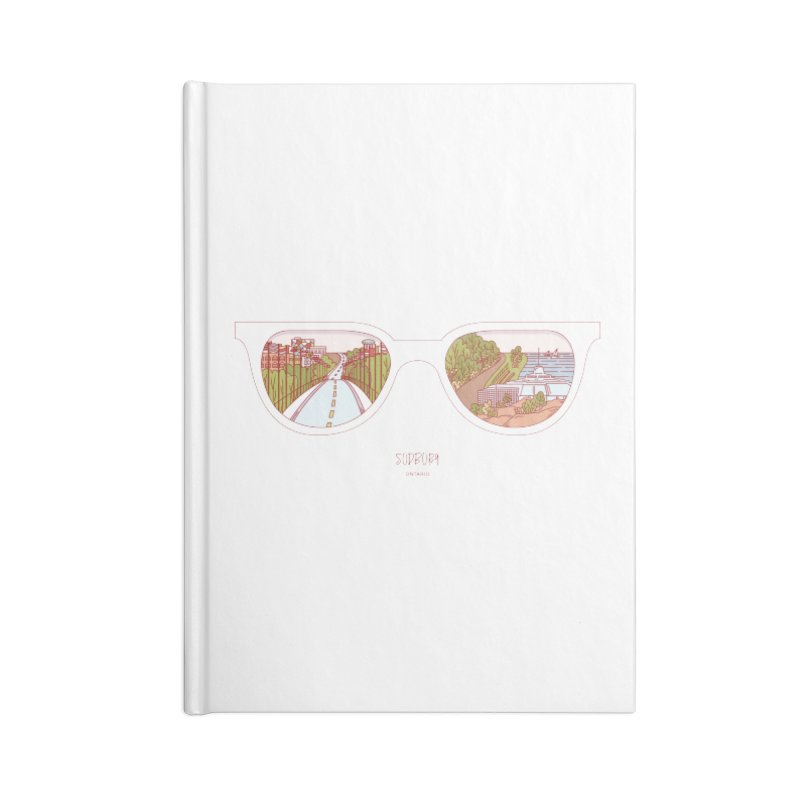 Canadian Sunnies | Sudbury Accessories Lined Journal Notebook by whitechaircreative's Artist Shop