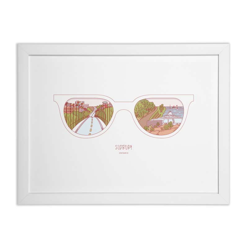 Canadian Sunnies | Sudbury Home Framed Fine Art Print by whitechaircreative's Artist Shop