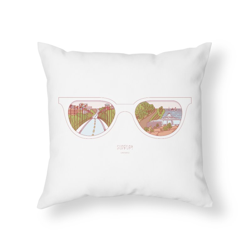 Canadian Sunnies | Sudbury in Throw Pillow by whitechaircreative's Artist Shop