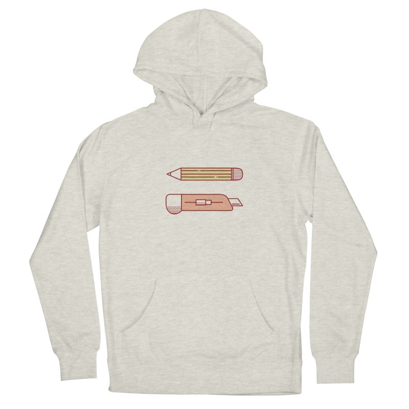 Mark & Crop Men's French Terry Pullover Hoody by whitechaircreative's Artist Shop