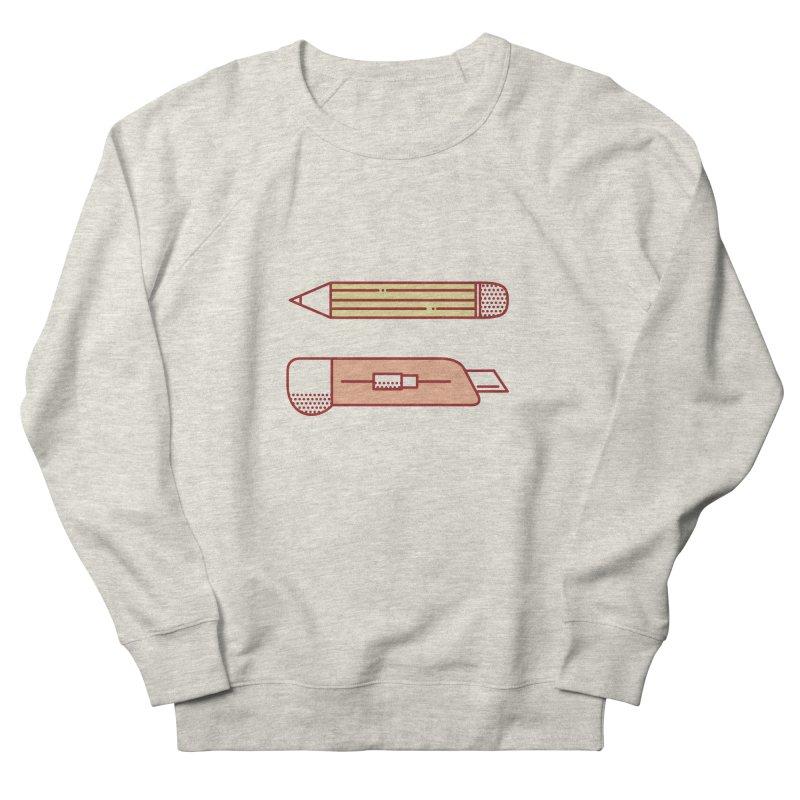 Mark & Crop Women's French Terry Sweatshirt by whitechaircreative's Artist Shop