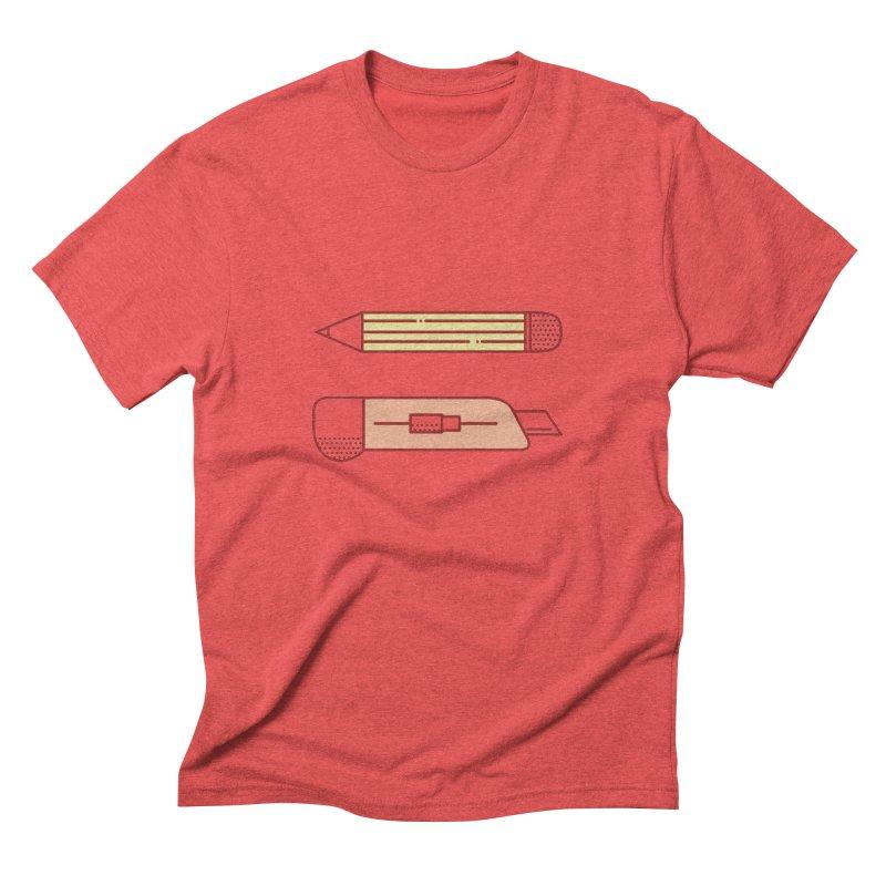 Mark & Crop Men's Triblend T-Shirt by whitechaircreative's Artist Shop