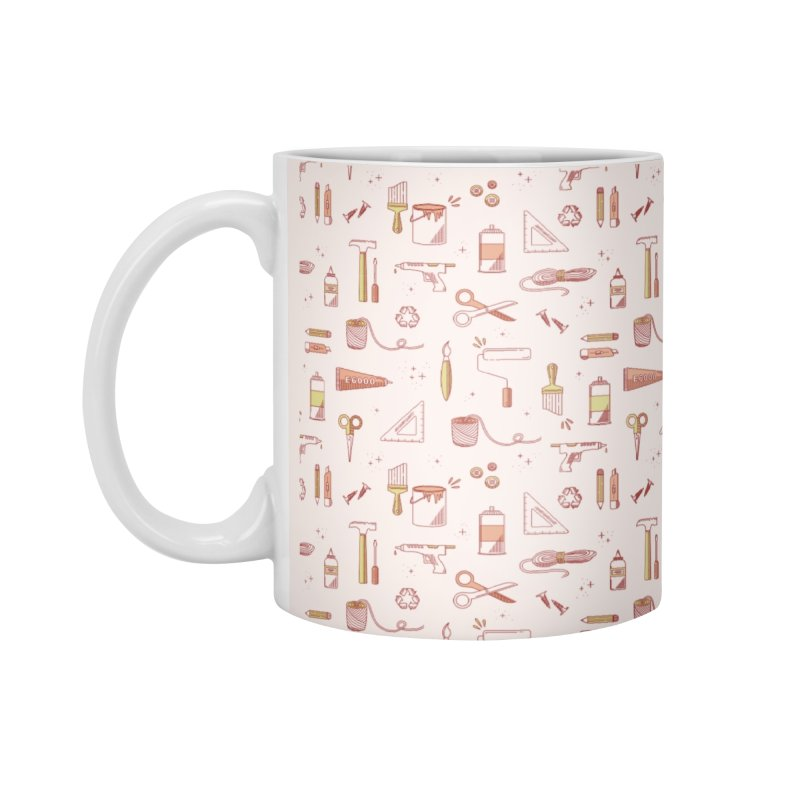 Get Creative - Pink Accessories Mug by whitechaircreative's Artist Shop