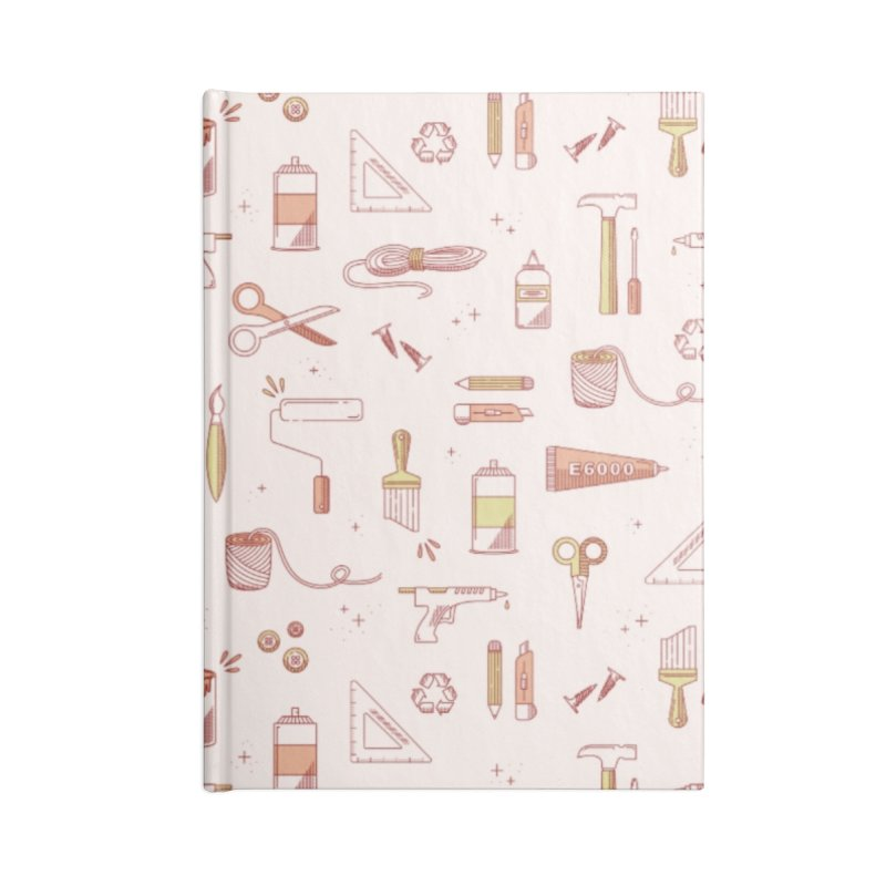 Get Creative - Pink Accessories Lined Journal Notebook by whitechaircreative's Artist Shop