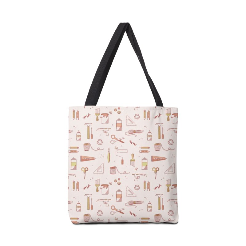 Get Creative - Pink Accessories Tote Bag Bag by whitechaircreative's Artist Shop