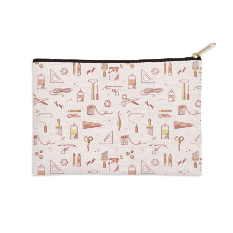 Get Creative - Pink Accessories Zip Pouch by whitechaircreative's Artist Shop