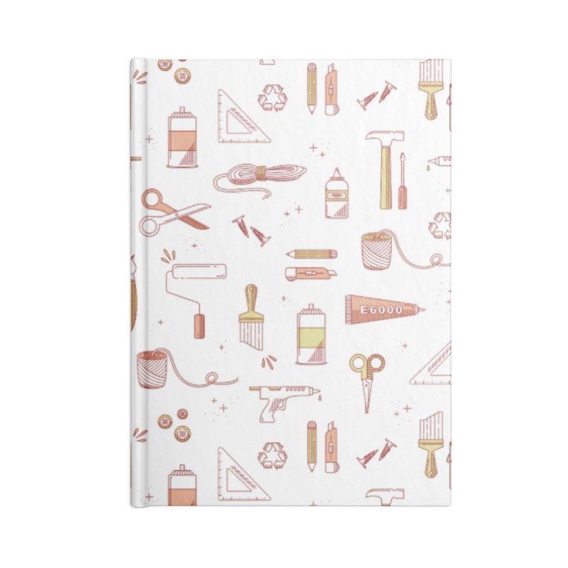 Get Creative - White Accessories Lined Journal Notebook by whitechaircreative's Artist Shop