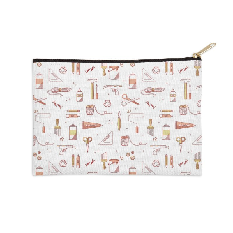 Get Creative - White Accessories Zip Pouch by whitechaircreative's Artist Shop