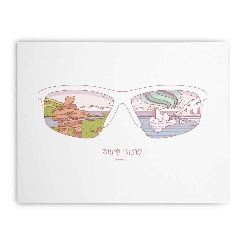 Canadian Sunnies | Baffin Island Home Stretched Canvas by whitechaircreative's Artist Shop