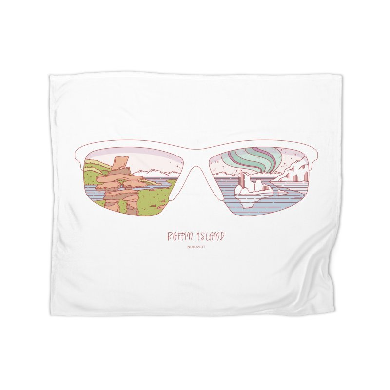 Canadian Sunnies | Baffin Island Home Fleece Blanket Blanket by whitechaircreative's Artist Shop