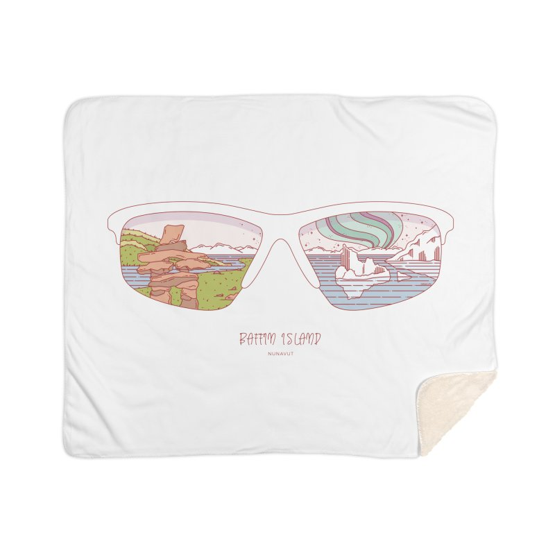 Canadian Sunnies | Baffin Island Home Sherpa Blanket Blanket by whitechaircreative's Artist Shop