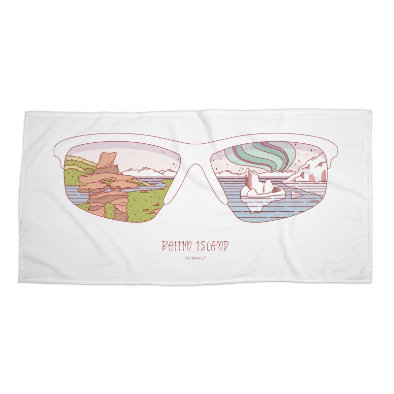 Canadian Sunnies | Baffin Island Accessories Beach Towel by whitechaircreative's Artist Shop