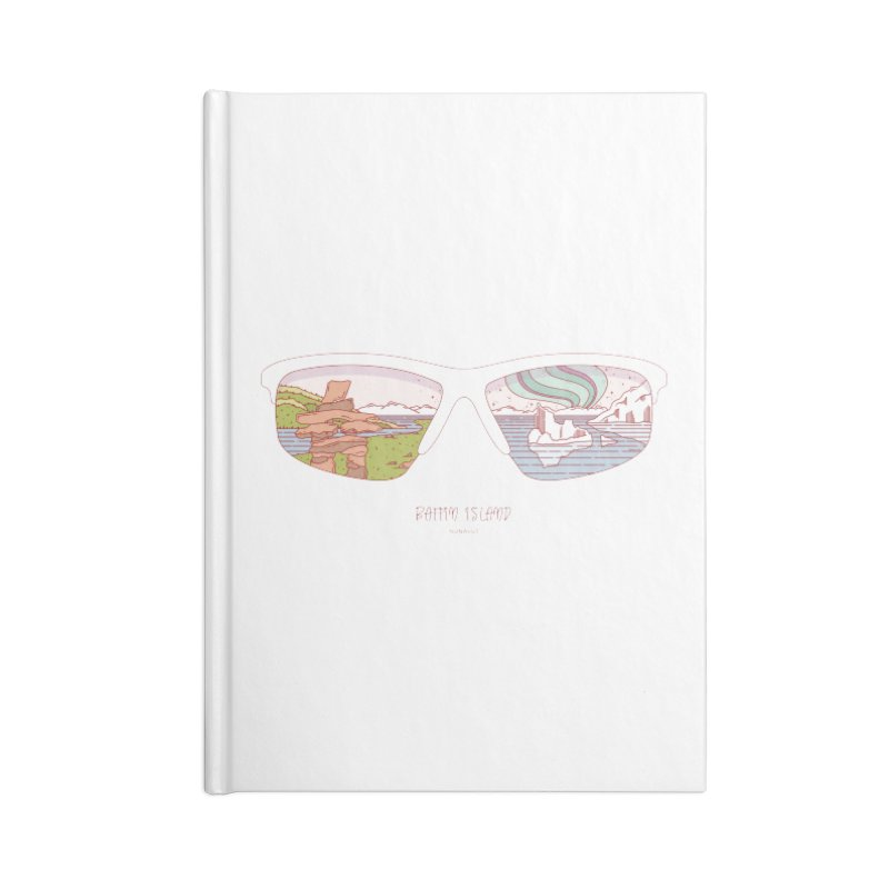 Canadian Sunnies | Baffin Island Accessories Lined Journal Notebook by whitechaircreative's Artist Shop