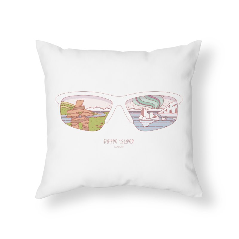 Canadian Sunnies | Baffin Island Home Throw Pillow by whitechaircreative's Artist Shop