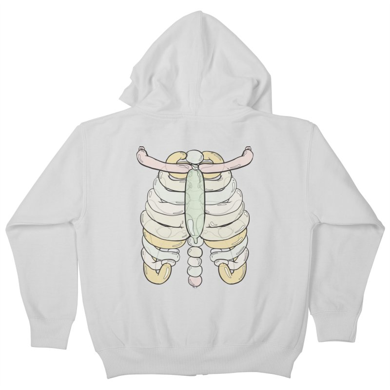 Bubble Guts Kids Zip-Up Hoody by whiterabbitsays's Artist Shop