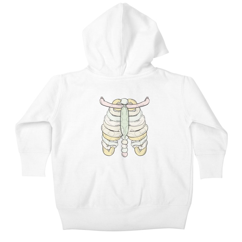 Bubble Guts Kids Baby Zip-Up Hoody by whiterabbitsays's Artist Shop