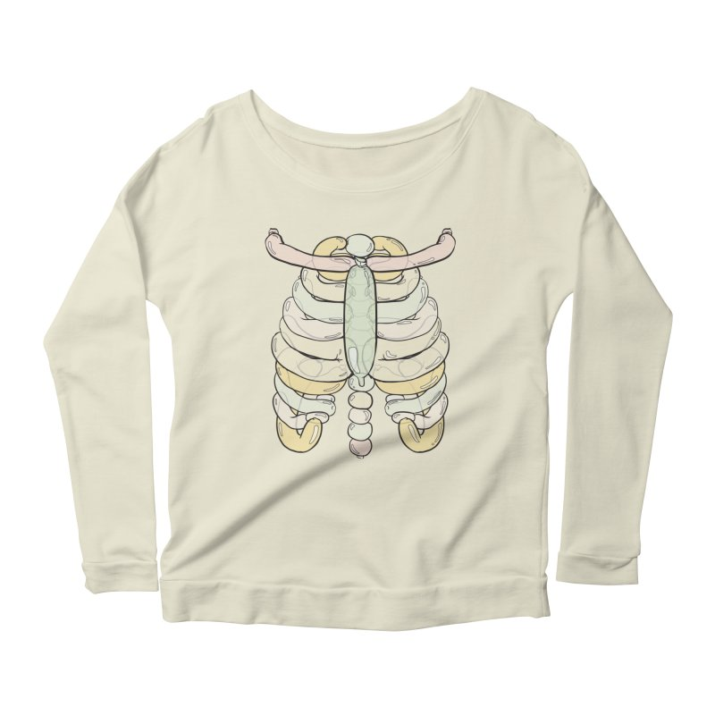 Bubble Guts Women's Longsleeve Scoopneck  by whiterabbitsays's Artist Shop