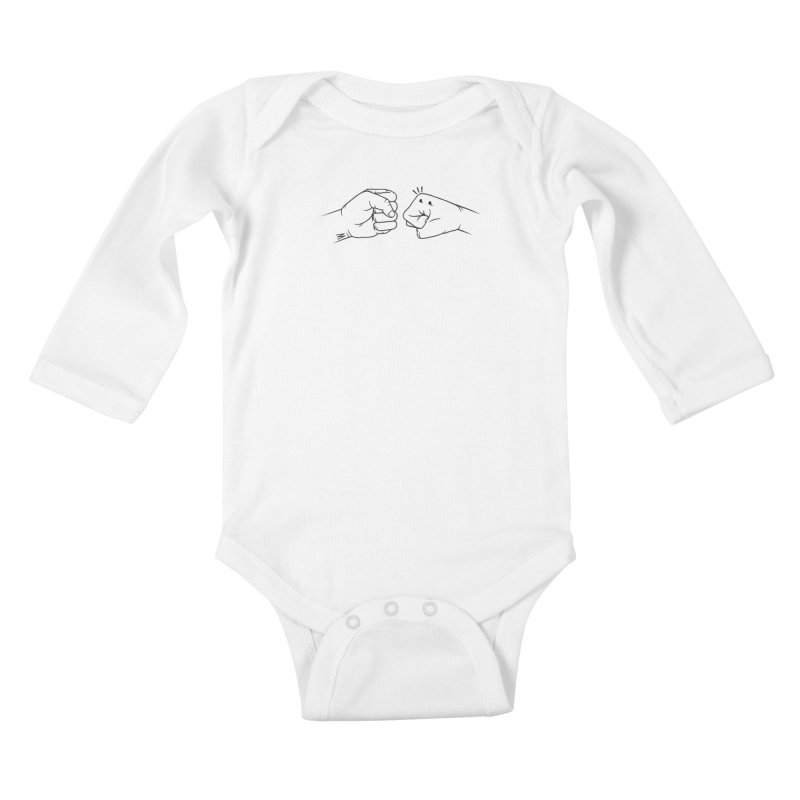 Fist Bumps All Round Kids Baby Longsleeve Bodysuit by whiterabbitsays's Artist Shop