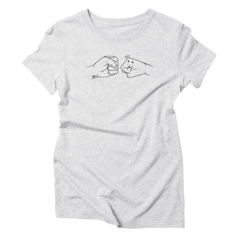 Fist Bumps All Round Women's Triblend T-Shirt by whiterabbitsays's Artist Shop
