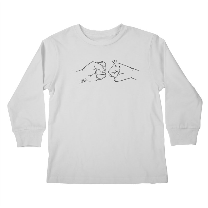 Fist Bumps All Round Kids Longsleeve T-Shirt by whiterabbitsays's Artist Shop