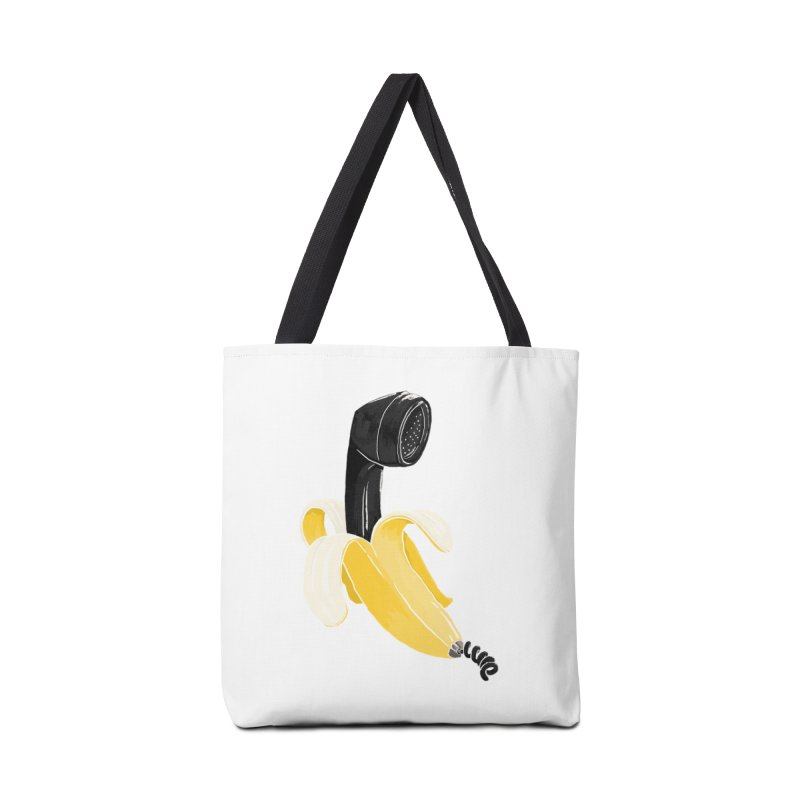 Banana Phone Accessories Bag by whiterabbitsays's Artist Shop
