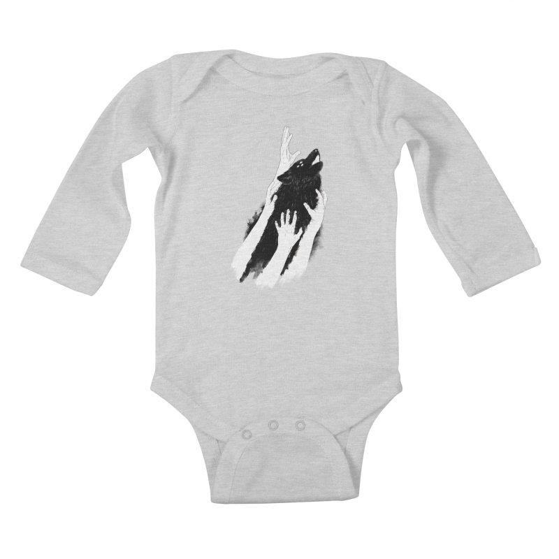 Wolves Of Paris Kids Baby Longsleeve Bodysuit by whiterabbitsays's Artist Shop