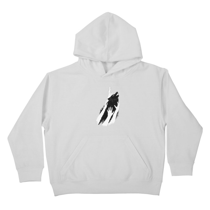 Wolves Of Paris Kids Pullover Hoody by whiterabbitsays's Artist Shop