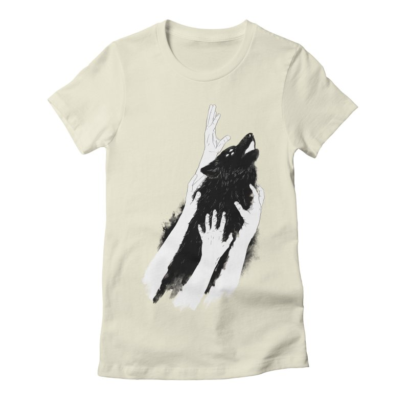 Wolves Of Paris Women's Fitted T-Shirt by whiterabbitsays's Artist Shop