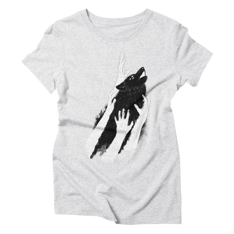 Wolves Of Paris Women's Triblend T-Shirt by whiterabbitsays's Artist Shop