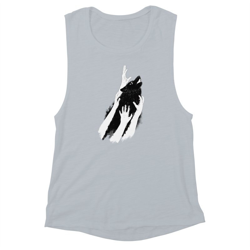 Wolves Of Paris Women's Muscle Tank by whiterabbitsays's Artist Shop