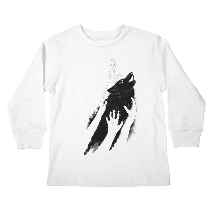 Wolves Of Paris Kids Longsleeve T-Shirt by whiterabbitsays's Artist Shop