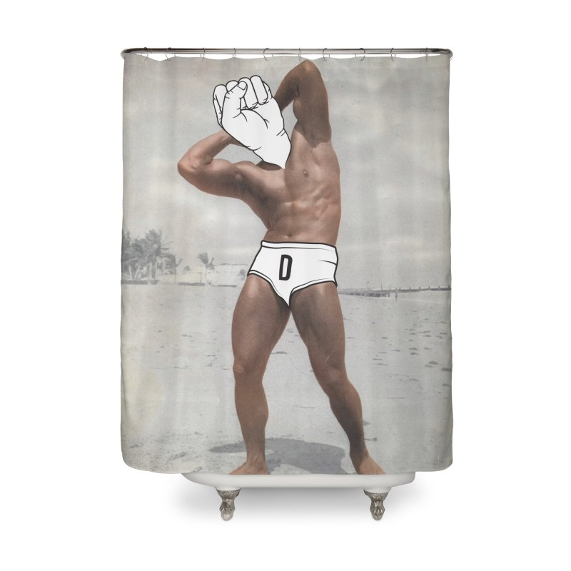 Knucklehead Home Shower Curtain by whiterabbitsays's Artist Shop
