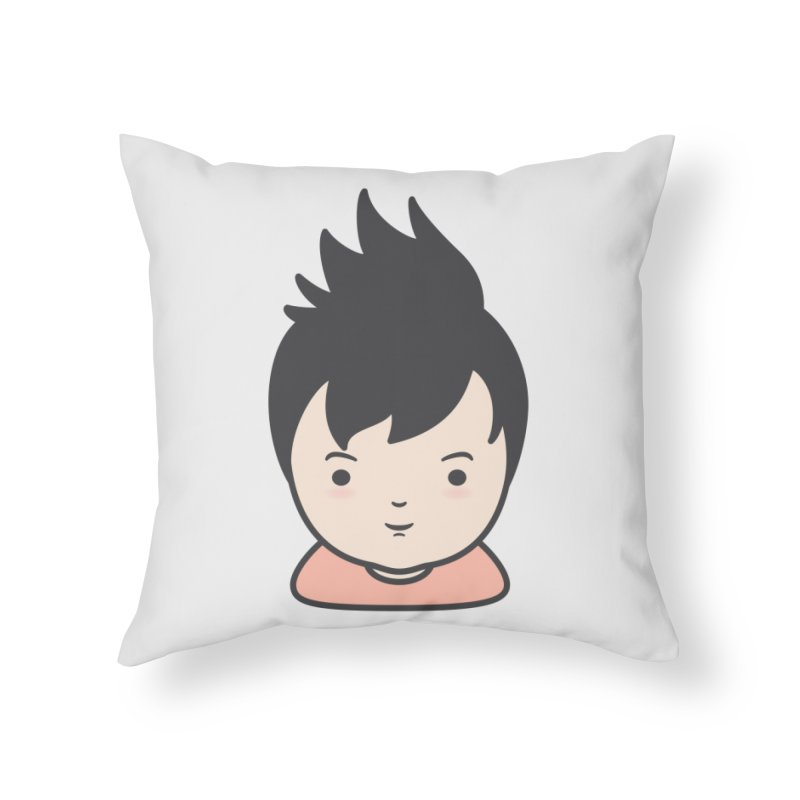 Baobao Home Throw Pillow by Whitewater's Artist Shop