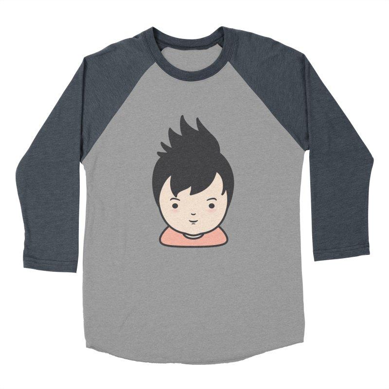 Baobao Men's Baseball Triblend T-Shirt by Whitewater's Artist Shop