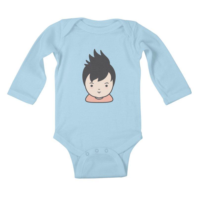 Baobao Kids Baby Longsleeve Bodysuit by Whitewater's Artist Shop