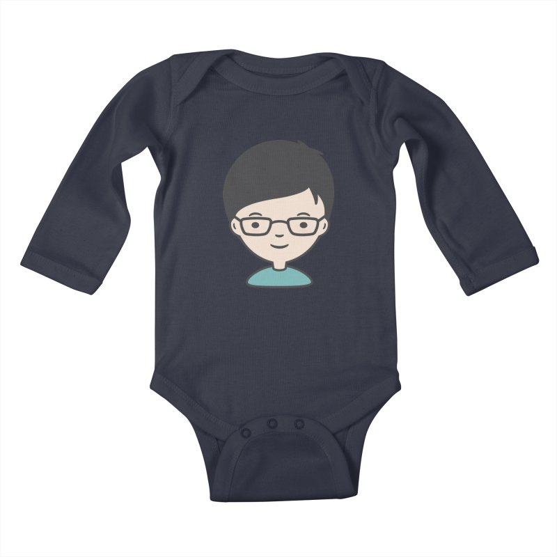 Papa Kids Baby Longsleeve Bodysuit by Whitewater's Artist Shop