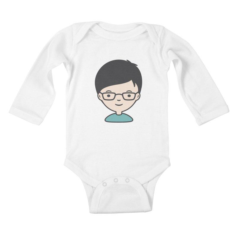 Papa Kids Baby Longsleeve Bodysuit by Whitewater's Artist Shop